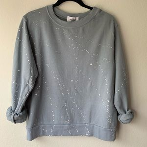 SoulCycle Splatter Paint Sweatshirt in Charcoal
